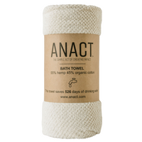 "Anact hemp-based BATH towel. 55% hemp 45% organic cotton. 55"" x 28"" Quick drying, Ultra absorbent, Sustainable Awesome!"