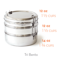 Stainless Steel Tri-Bento Lunchbox