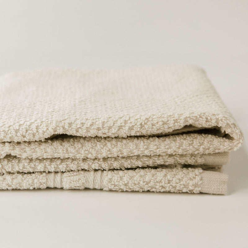 "Folded hemp-based HAND towel. Anact 55% hemp 45% organic cotton. 28"" x 16"" Quick drying, Ultra absorbent, Sustainable"