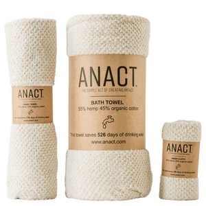 One-of-a-kind eco-friendly, hemp-based Bath Towel Set will take your bathing ritual and bathroom decor to the next level.