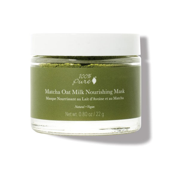 Matcha Oat Milk Nourishing Face Mask Powder  by 100% Pure.  Natural and Vegan at Reap & Sow Apothecary Oceanside, CA