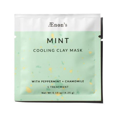 MInt Cooling Clay Mask with Peppermint and Chamomile. Individual Treatment .2oz by Aenon. Clean Beauty Reap & Sow