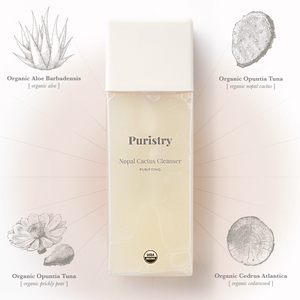 Purifying Cactus Cleanser by Puristry. Healing Organic Ingredients: Aloe,  Nopal cactus, Prickly Pear, Cedarwood