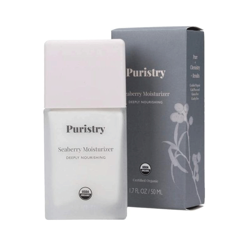 Deeply Nourishing Seaberry Moisturizer nay Puristry. 1.7oz. Certified Organic. Vegan Clean Beauty