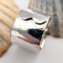 Load image into Gallery viewer, Sterling Silver Wide Wrap Over Ring