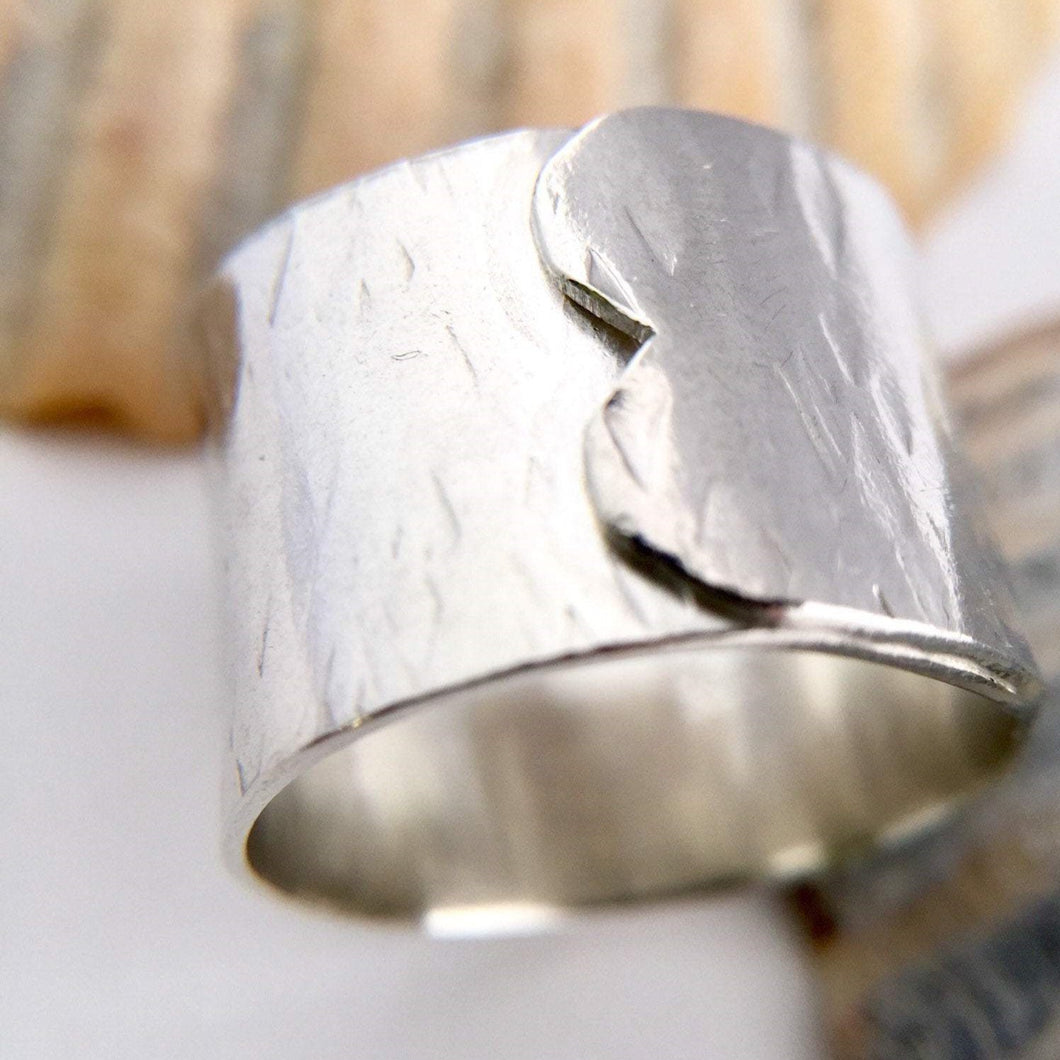 Sterling Silver Wide Wrap Over Ring