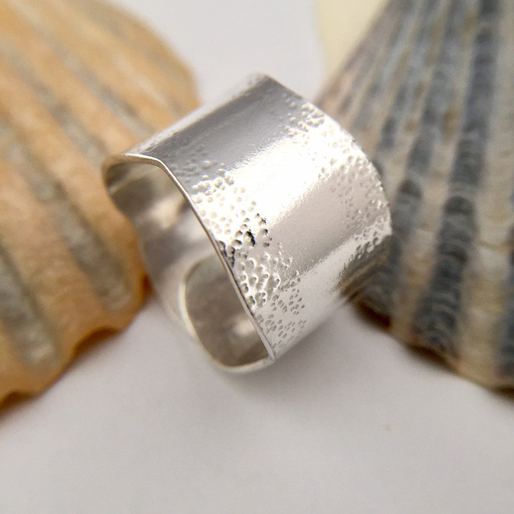Sterling Silver Wrap Over Wave Ring
