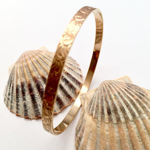 Textured Brass Bangle