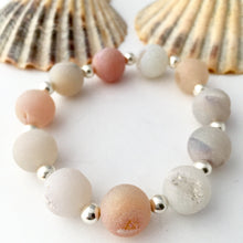 Load image into Gallery viewer, Cream Druzy Agate Gemstone Bracelet