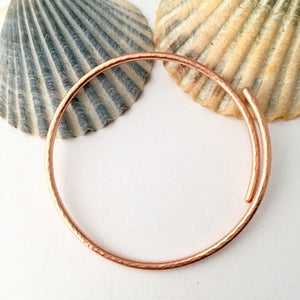 Hammered Open Copper Bangle