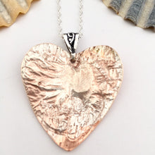 Load image into Gallery viewer, Copper Heart Pendant with Sterling Silver