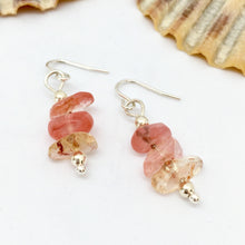 Load image into Gallery viewer, Cherry Quartz Gemstone Earrings