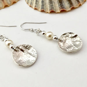 Sterling Silver and Pearl Drop Earrings