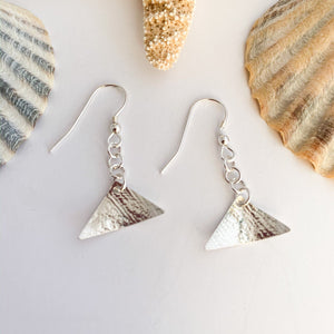 Small Sterling Silver Triangle Earrings