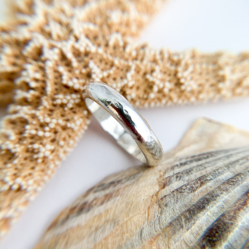 Minimalist Sterling Silver Textured Ring