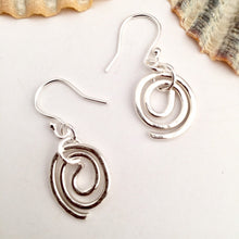Load image into Gallery viewer, Sterling Silver Coil Dangle Earrings