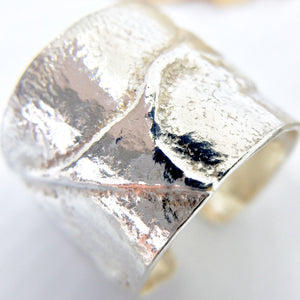 Wide Rustic Sterling Silver Ring