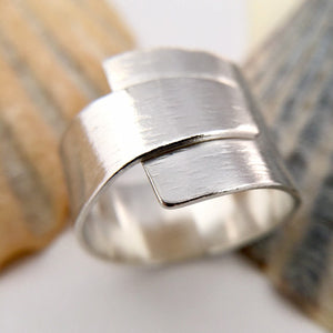 Wrap Over Sterling Silver RIng