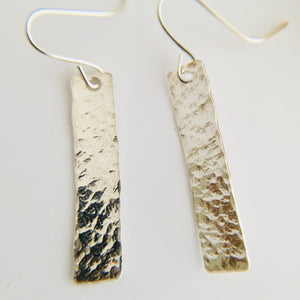 Sterling Silver Rectangle Bar Earrings