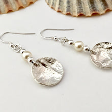 Load image into Gallery viewer, Sterling Silver and Pearl Drop Earrings