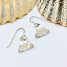 Load image into Gallery viewer, Little Sterling Silver Triangle Earrings