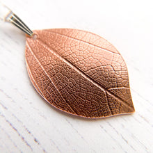 Load image into Gallery viewer, Little Copper Leaf Pendant