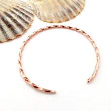Load image into Gallery viewer, Twisted Copper Open Bangle