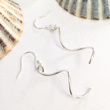 Load image into Gallery viewer, Little Sterling Silver Corkscrew Earrings