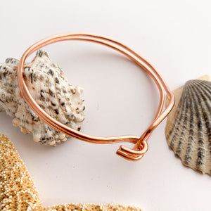 Plain Copper Wire Cuff Bangle