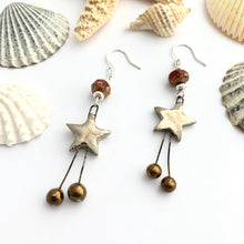 Load image into Gallery viewer, Ceramic Star Dangle Earrings