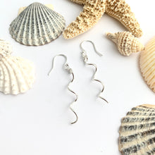 Load image into Gallery viewer, Sterling Silver Spiral Dangle Earrings