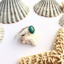 Load image into Gallery viewer, Sterling Silver and Chinese Turquoise Ring