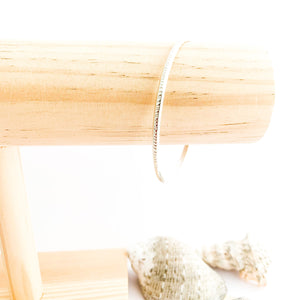 Sterling Silver Open Minimalist Bangle