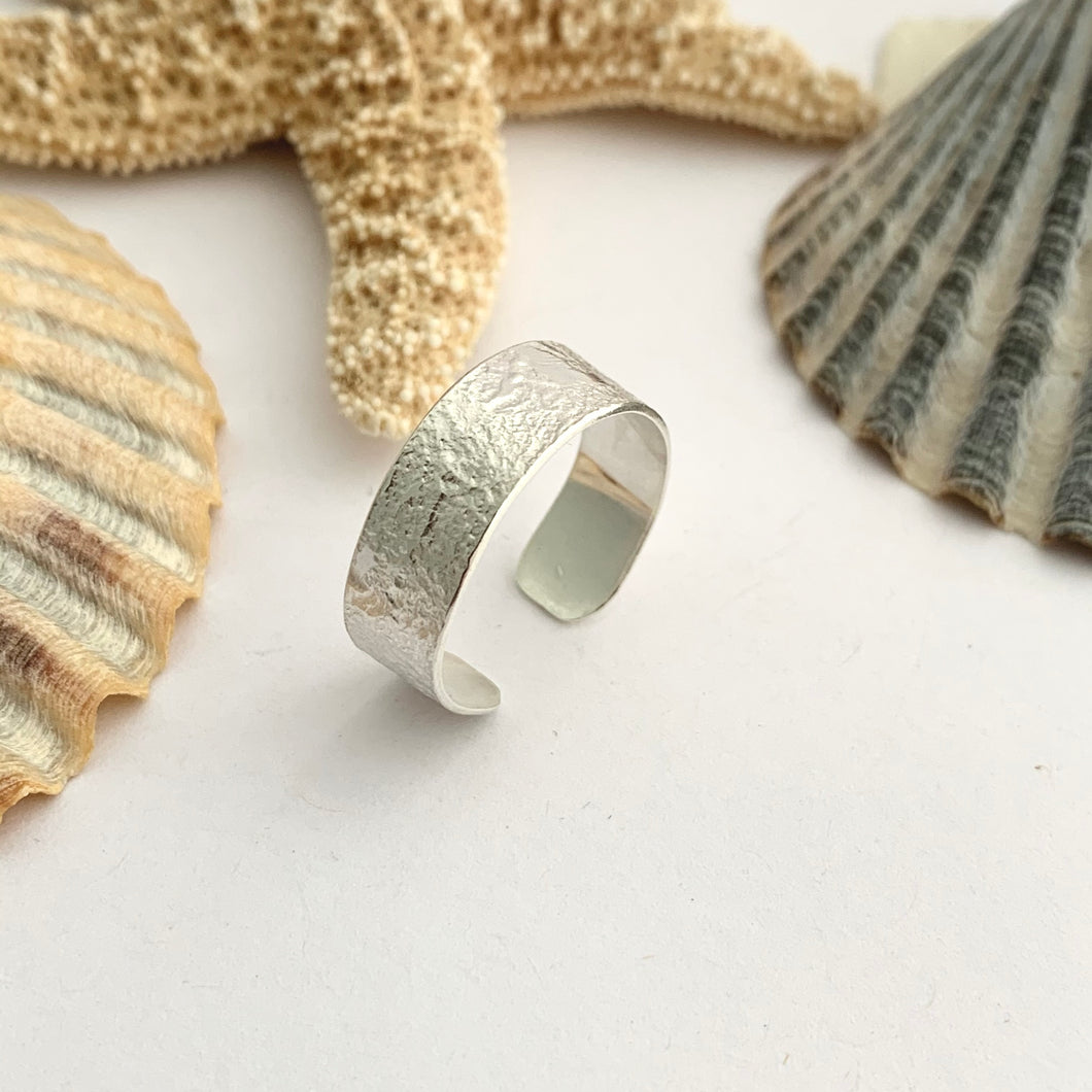 Open Lace Design Silver Ring