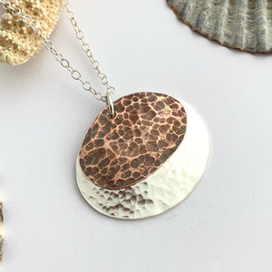 Square Copper Patterned Earrings