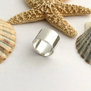 Wide Plain Sterling Slver Ring