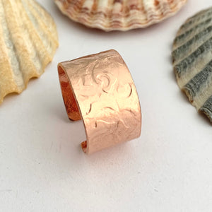 Open Adjustable Wide Copper Band
