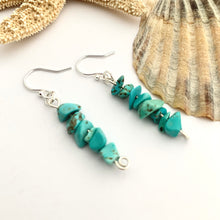 Load image into Gallery viewer, Dangle Turquoise Gemstone Earrings