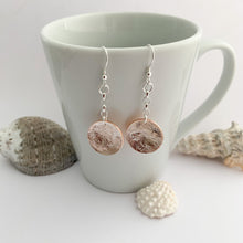 Load image into Gallery viewer, Copper and Sterling Silver Circle Shape Earrings