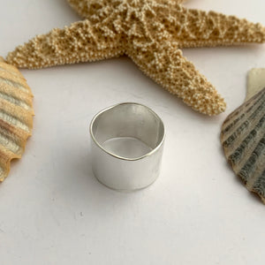 Wide Plain Sterling Silver Ring