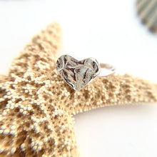 Load image into Gallery viewer, Heart Design Open sterling Silver Ring
