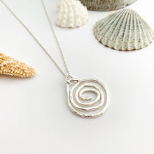 Load image into Gallery viewer, Little Sterling Silver Celtic Spiral Pendant