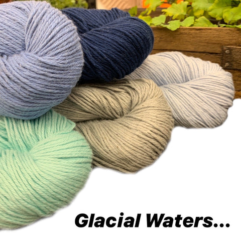 Favorite Summer Shawl - Glacial Waters - beWoolen