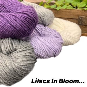 Favorite Summer Shawl - Lilacs In Bloom - beWoolen