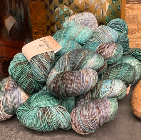 Forbidden Fiber Gluttony Sock - Grass is Greener - beWoolen