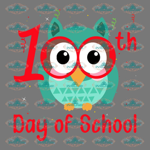 100 Days Of School Owl Student Gift For Teacher Png Digital