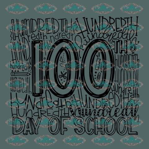 100 Days Of School Student Teacher Graduated Gift For Svg Digital