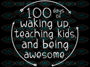 100 Days Of School Svg Teacher Cricut Silhouette File Svg Waking Up Teaching Kids Being Awesome
