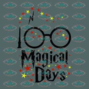 100 Magical Days Of School Student Graduated Gift For Svg Digital