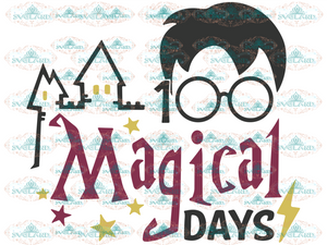 100 Migical Days Harry Potter Hogwarts Mystery School Svg Student Teacher Digital